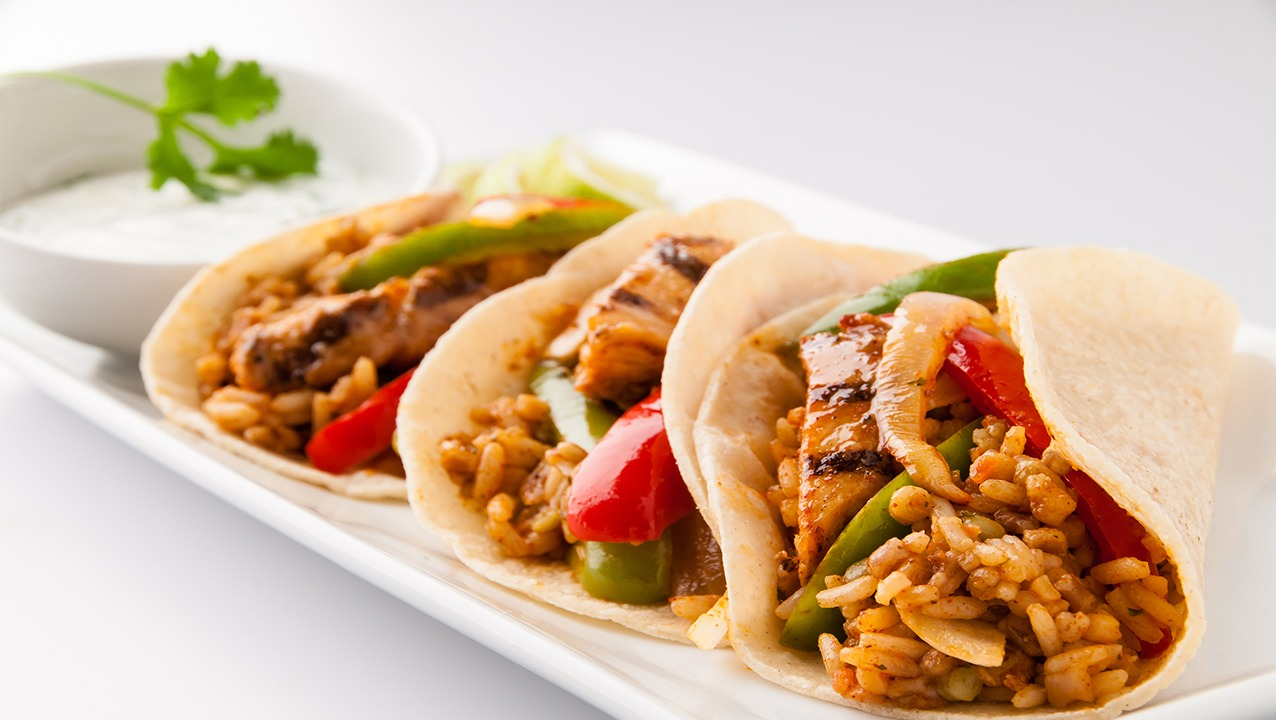 Fajita Chicken & Rice Tacos Military Foodservice