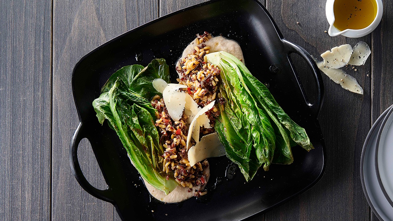 Grilled Romaine Salad with KAMUT® Blend