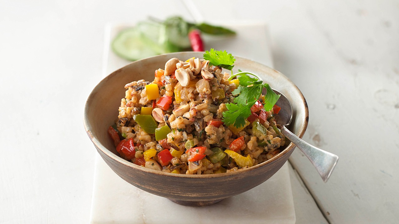 Naked wild and free thai pilaf in bowl