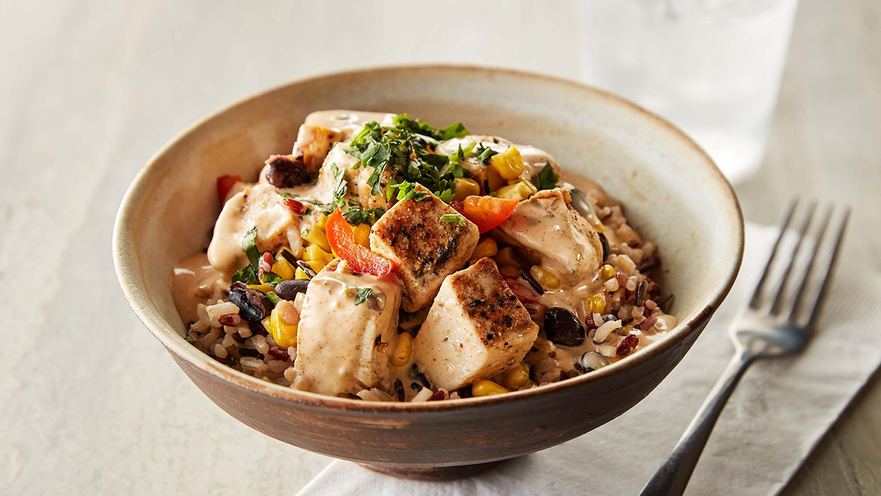Ruby wild chipotle chicken bowl