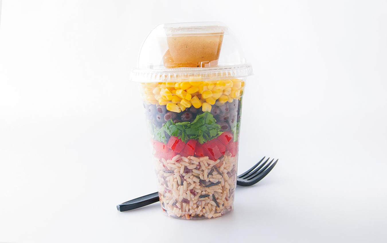 Southwest Black Bean and Grain Perfect™ Ruby Wild Blend™ Shaker Salad