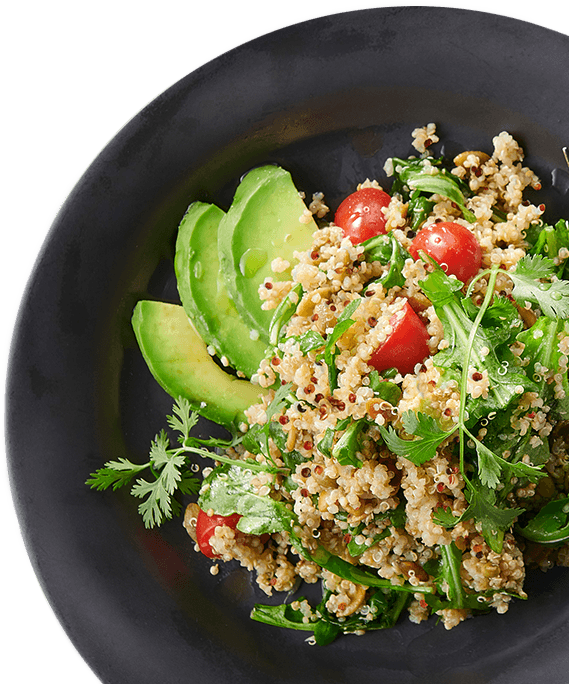 Fresh salad with grains